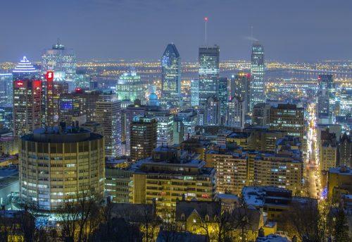 モントリオールの街の様子・夜景