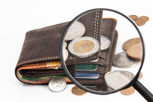 財布にあるお金(小銭)のイメージ