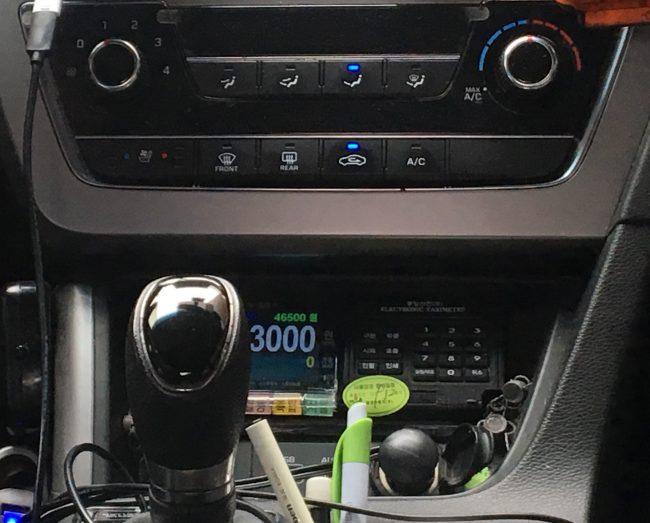 韓国のタクシーメーター